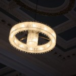 the beautiful new lights in the Castle suite