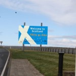 we were just five minutes over the border.  The sign could do with some attention!