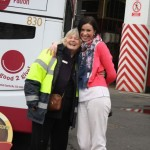 Lynne with Louise Caithness - one of the Kilimanjaro trekkers