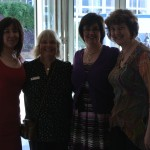 oops sorry about this photo - bit dark but its me with Catherine, Anne and Mary