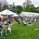 the Edinburgh Book Festival first day