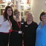 Trustees Lynne and Susan with Virgin staff Rachel and Hayley