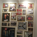 the wall in the Virgin Lounge