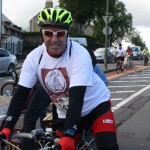 the lovely Andy Finlay from Lothian Buses who organised their 64 cyclists