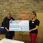 receiving another handsome cheque from the WAGS (Women at Greenbank Church)