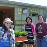 Trustees Donella and Susie and Young Ambassador Sammi at open day at Craigie's Farm