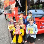 Lothian Buses outing - taking a group on the Horrible Histories Bus and meeting author Terry Deary