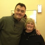 Panto villain and Charity friend and Patron Grant Stott with Lynne