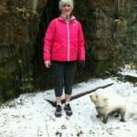 Great supporter Carol training in almost arctic conditions
