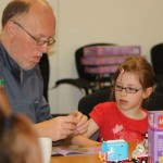 the lego building workshop - parents loved it as much as the children!