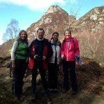 Kilimanjaro training - Sheryl, Cameron, Aileen and Wilma on a training walk