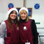 on the right is Ruth Davies - Bag packing co-leader
