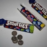 Save 20p pieces in a Smartie tube