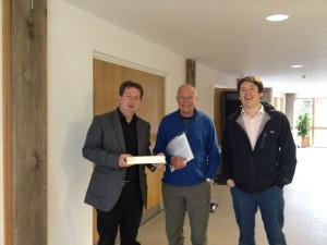 Tony Kettle, Ian and Chris Barr before the meeting